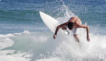 man on surfboard